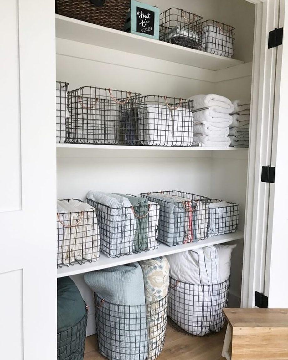 The most beautiful linen closet