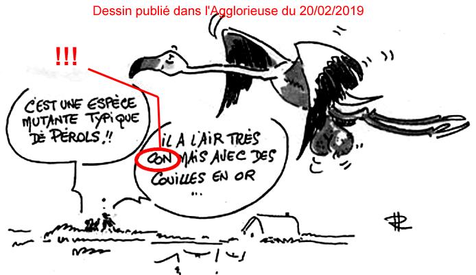 Caricature de L'Agglorieuse