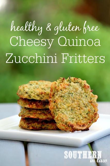 Southern In Law: Recipe: Cheesy Quinoa Zucchini Fritters