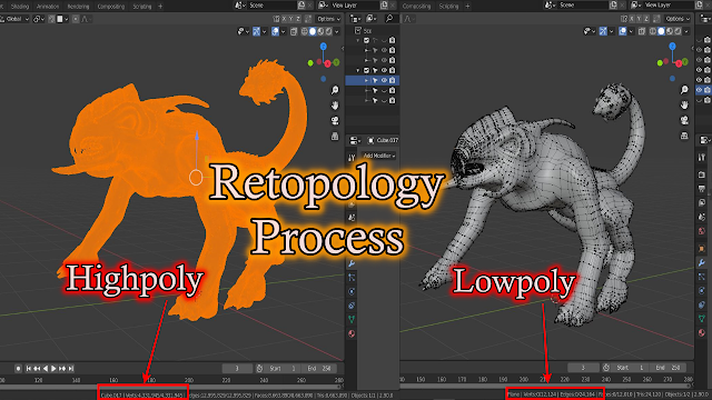 """Why do we need to """"Retopology"""" of a Highpoly 3D Model to make Lowpoly 3D Model ?"""