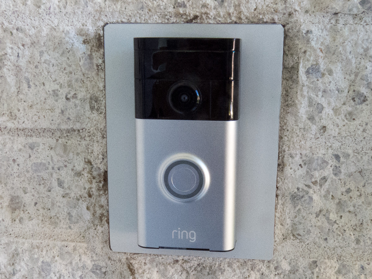 Glens Home Automation The Ring Video Doorbell Upgrading From An Audio Wiring Wall Plates Snaps Onto Adapter Plate And Locks Down Using Two Special Screws On Bottom Of Unit This Prevents Someone Easily Removing