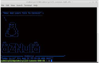 Tutorial Mempercantik Terminal Linux dengan Gambar Text