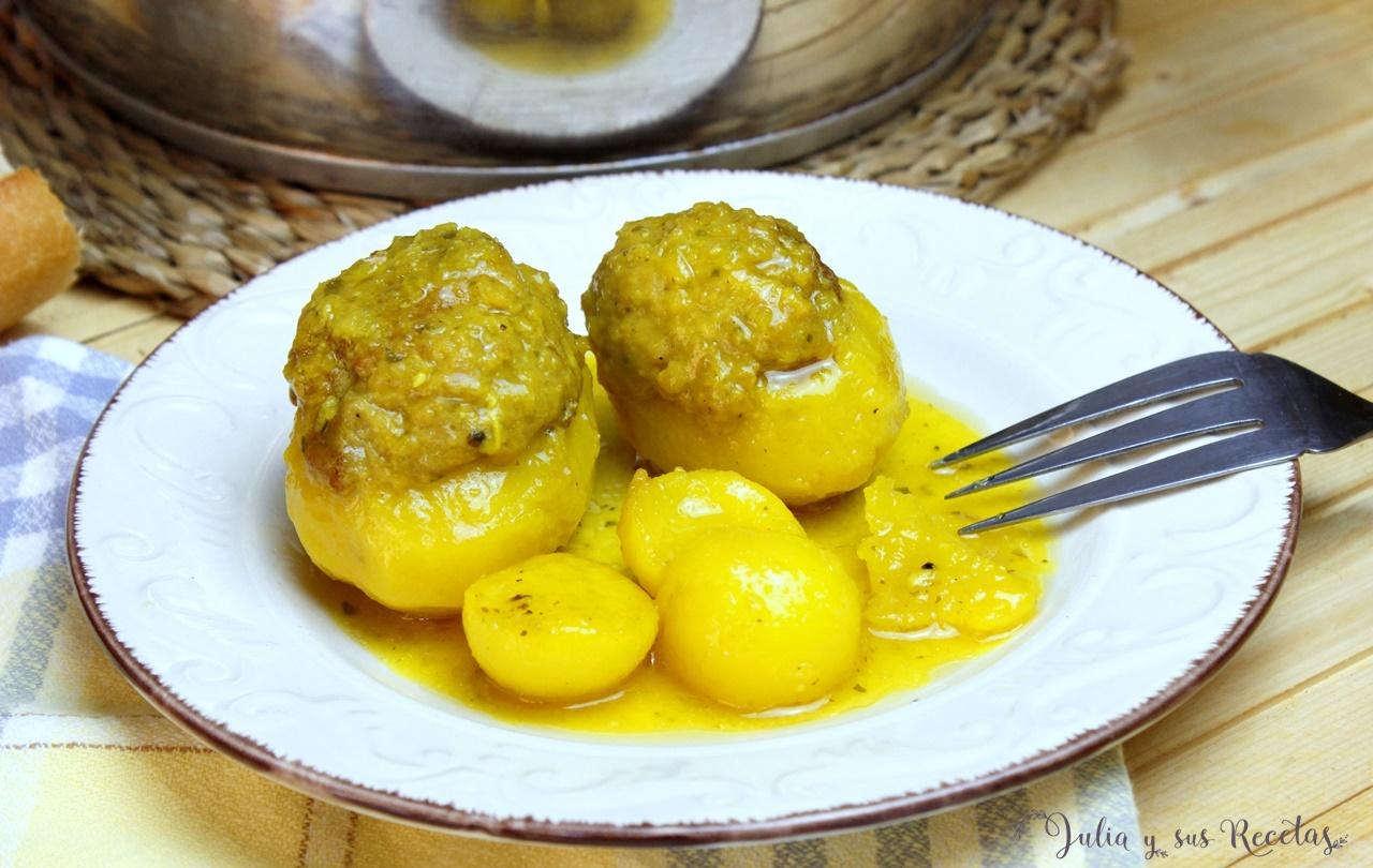 Julia Y Sus Recetas Patatas Rellenas De Carne En Salsa