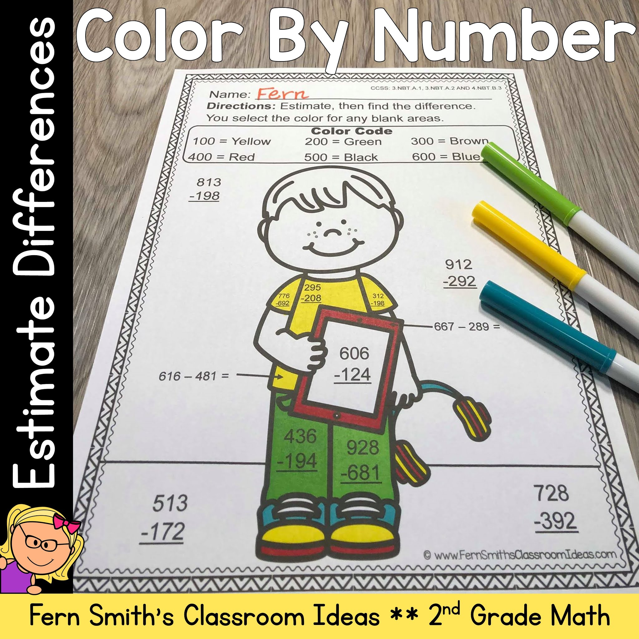 hight resolution of Are You Getting Ready to Start Teaching How to Estimate Differences? - Fern  Smith's Classroom Ideas!