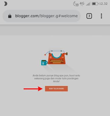 Tutorial membuat blog melalui hp android - gratis