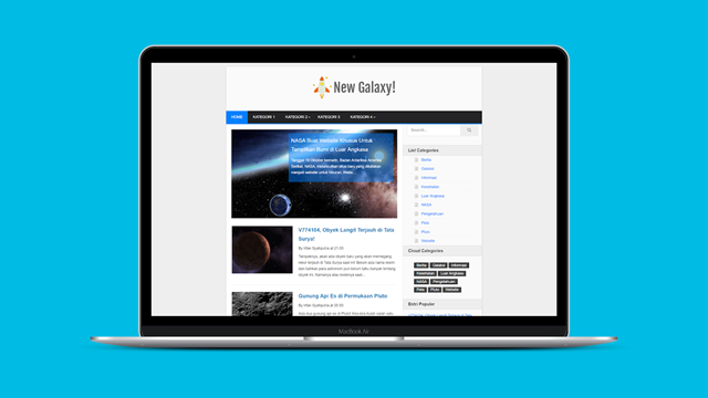 New Galaxy Blogger Templates