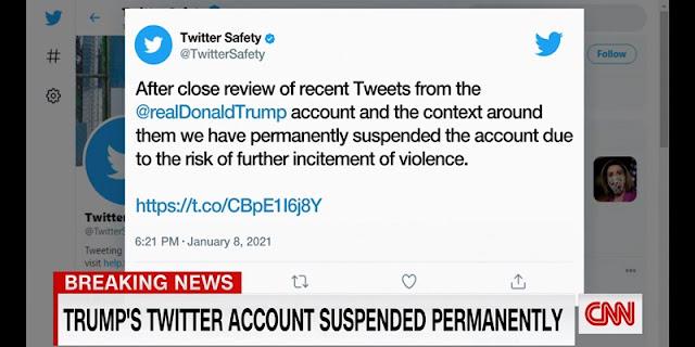 Dianggap Berbahaya Twitter Blokir Permanen Akun @realDonaldTrump
