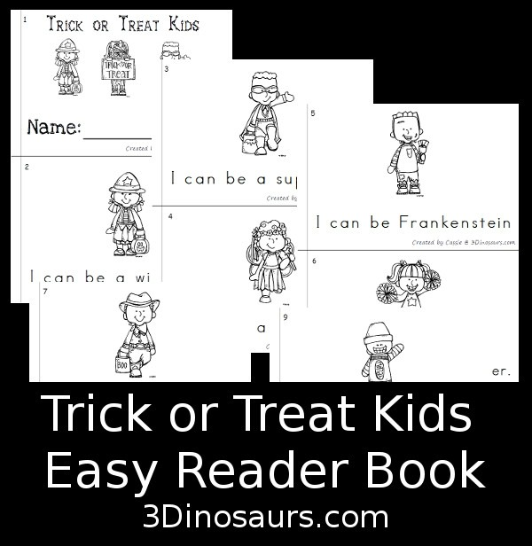 Learn sight words with this cute free trick or treat easy reader book