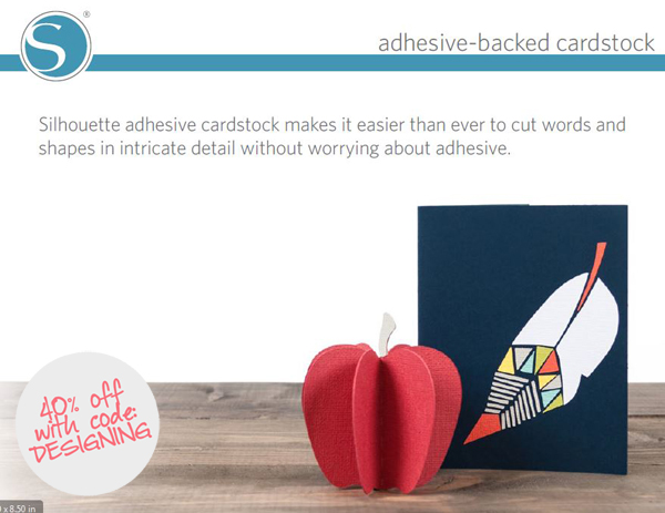 adhesive+cardstock 40% off Silhouette Accessories Promotion + New Products 21