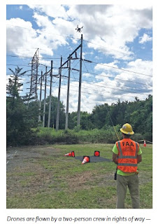 Aerial Drones to inspect electric transmission lines in Franklin