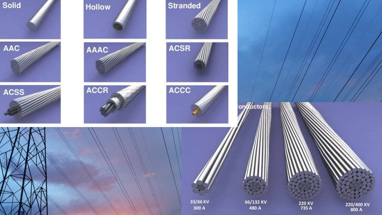 Copper and aluminum conductors, which are most commonly used for transmission lines