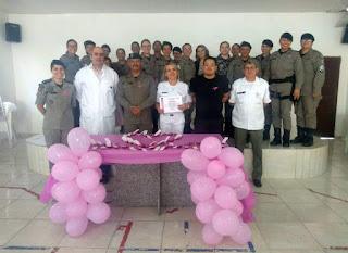 4º BPM realiza programação do Outubro Rosa para policiais militares