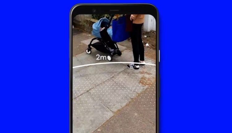 Google launches a tool that uses augmented reality to maintain social separation