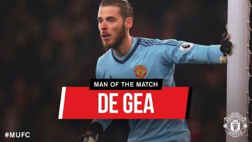 David De Gea Man of the Match Arsenal vs Manchester United 1-3