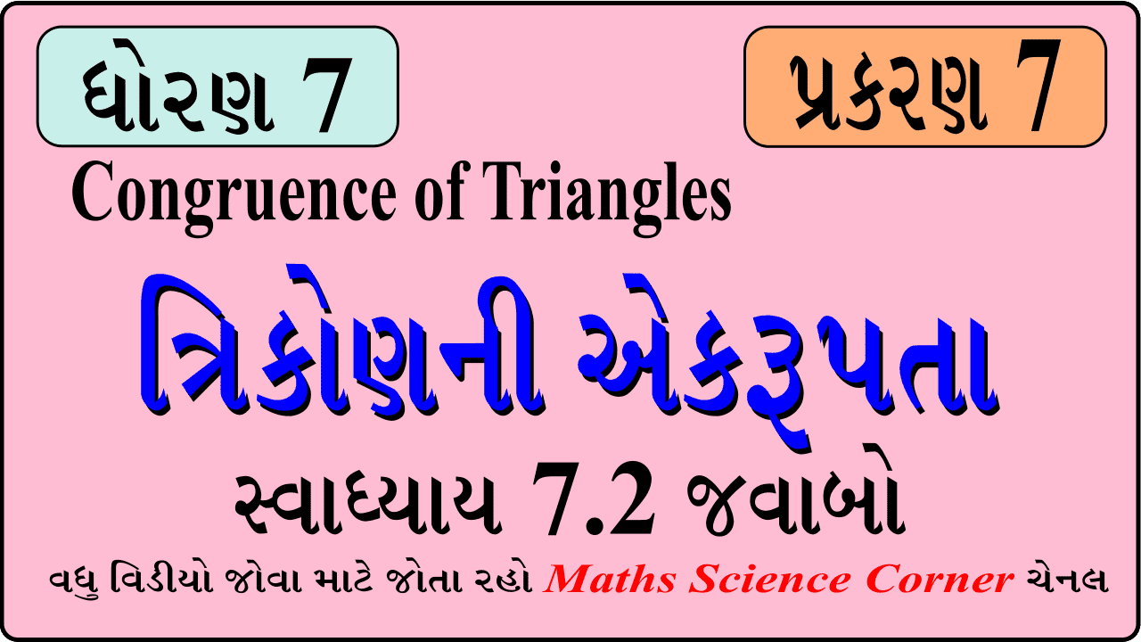 Maths Std 7 Swadhyay 7.2