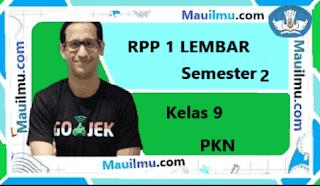 RPP 1 Lembar pkn kelas 9 Semester 2 daring