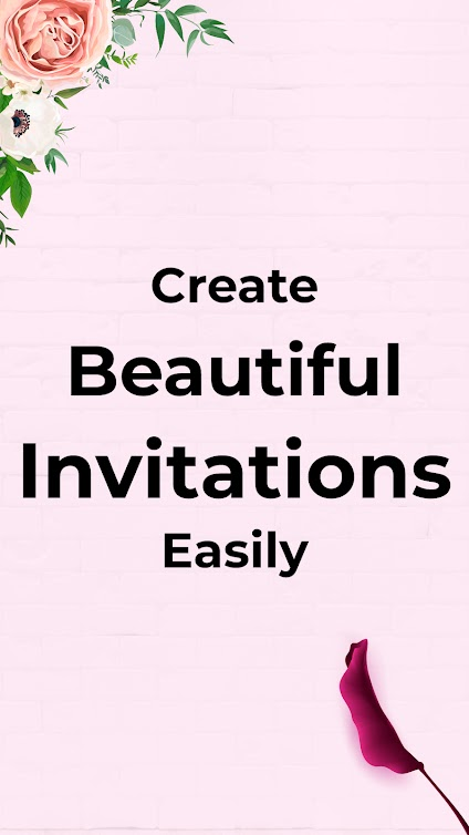 Create beautiful invitation cards very easily