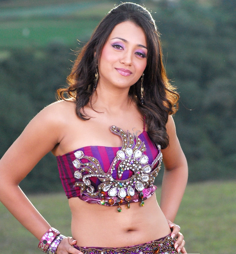 Trisha Spicy Hot Navel Show Images - Images-9744