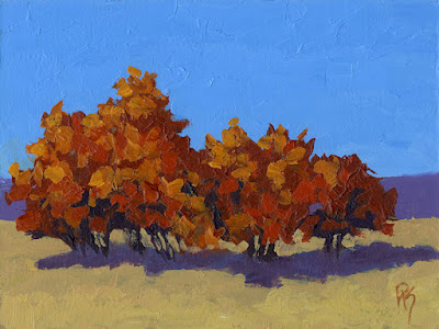 acrylic landscape painting autumn impressionism nature