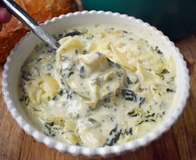 CREAMY SPINACH ARTICHOKE SOUP #vegan #diet #healthy #food #paleo