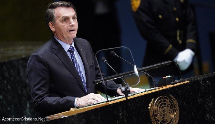 Presidente de Brasil, Jair Bolsonaro, en la ONU