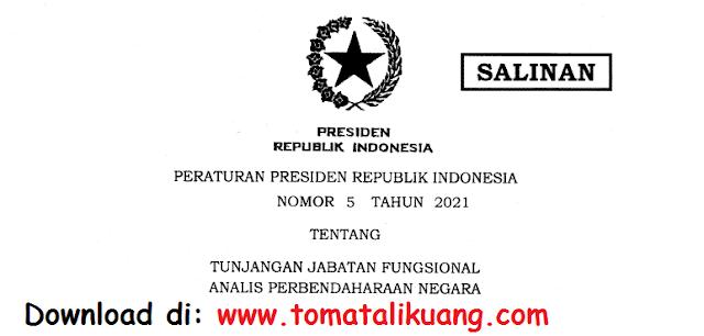 peraturan presiden perpres nomor 5 tahun 2021 tentang tunjangan jabatan fungsional analis perbendaharaan negara pdf tomatalikuang.com