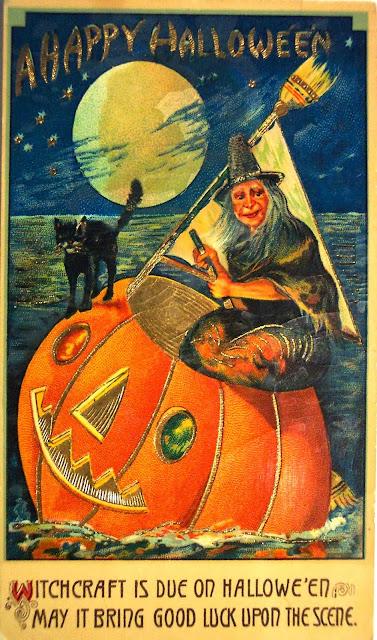1925 Rolls Royce Phantom >> Vintage Halloween Witch Postcards, c. 1900's ~ vintage everyday