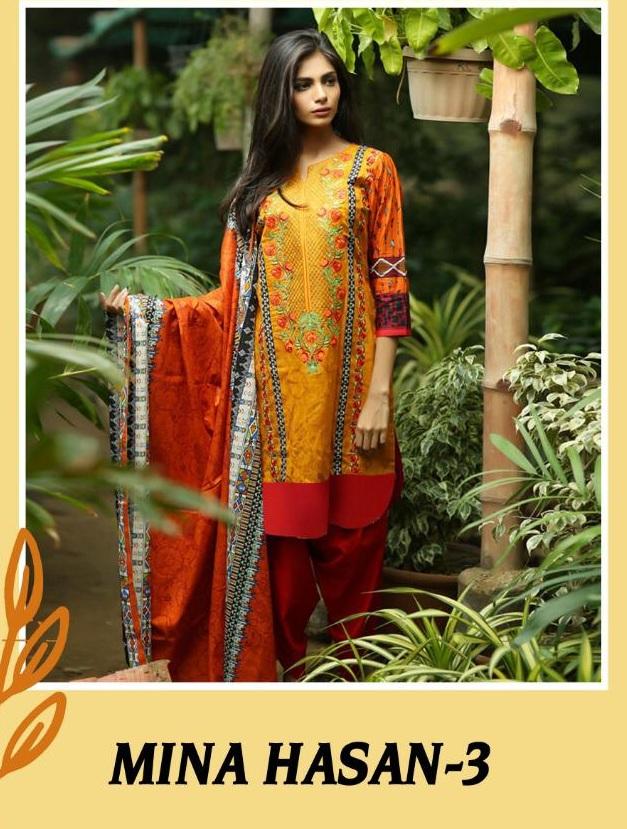 99b9dbb4a9 Mahi Mina hasan vol 3 pakistani dress buy wholesale price - Diwan ...