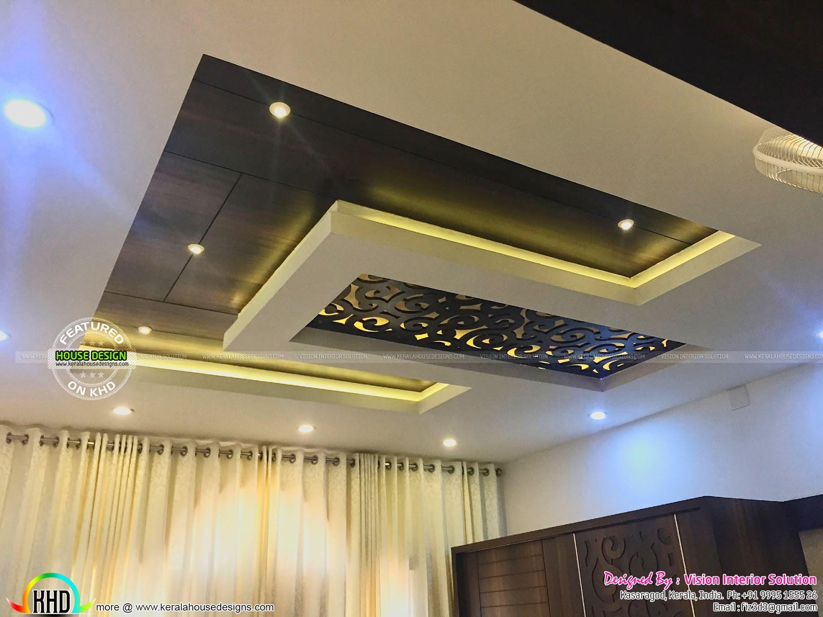 Furnished master bedroom interior - Kerala home design and ...