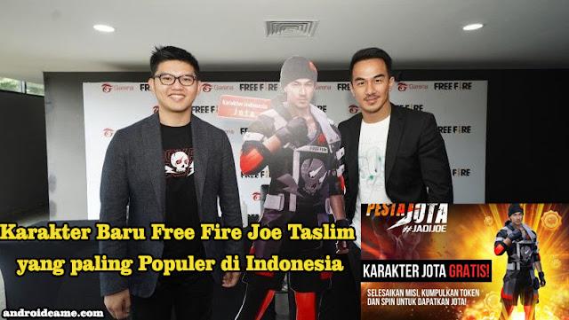 Karakter Baru Free Fire Joe Taslim yang paling Populer di Indonesia