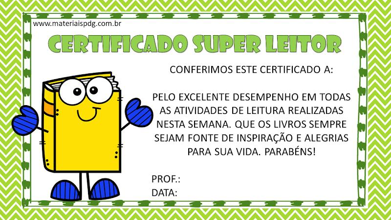 CERTIFICADO SUPER LEITOR - GERADOR AUTOMÁTICO