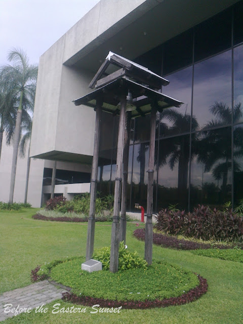 """Bell tower"" located in front of the PICC building."