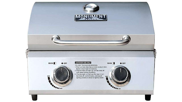 Monument Grills 13742 Tabletop Portable Propane Gas Grill