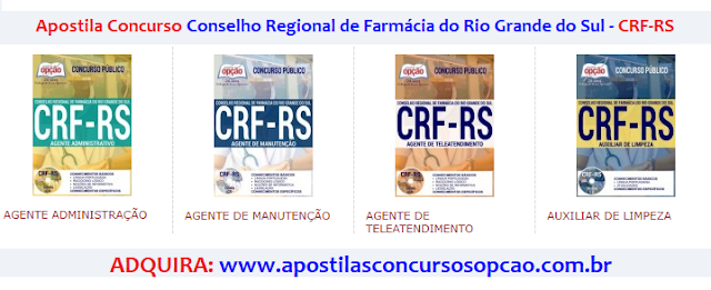 Apostila CRF-RS 2017 Agente Administrativo.