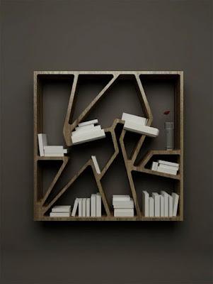 Gambar rak buku minimalis terbaru