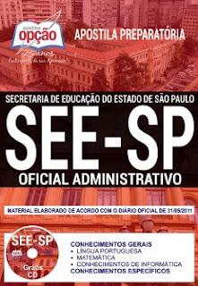 Apostila Secretaria da Educação-SP Oficial Administrativo - SEE SP
