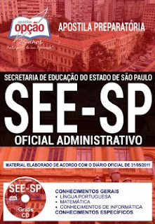 Apostila Concurso SEE-SP Oficial Administrativo 2018