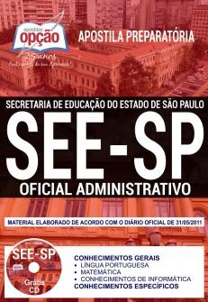 Apostila concurso SEE-SP: Oficial Administrativo
