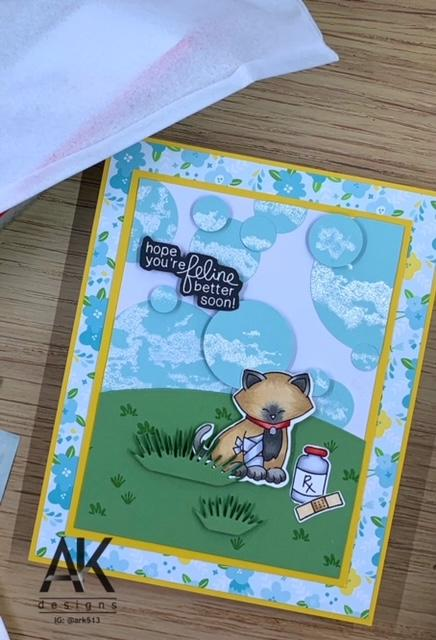 Hope You're Feline Better Soon Card card by May Guest Designer Adam Karle | Newton's Sick Day Stamp Set by Newton's Nook Designs #newtonsnook #handmade