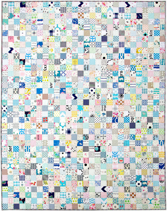 All the Blues - A Finished Quilt | Red Pepper Quilts 2015
