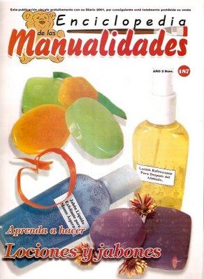 Revista Manualidades  especial jabones y Lociones , Syl Quezada Arte Y Diseño