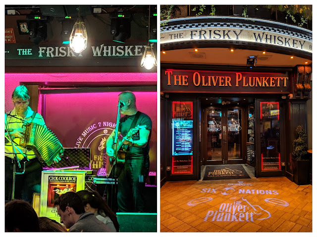 What to do in Cork City Ireland: Check out the Frisky Whiskey Bar at The Oliver Plunkett