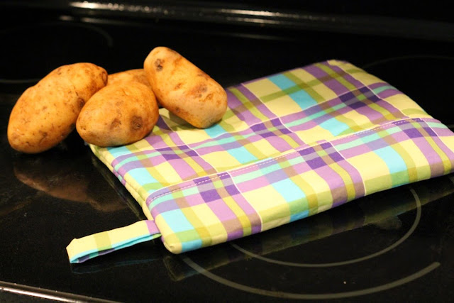 how to make a microwave potato bag