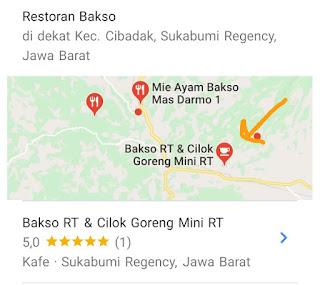 maps kedai bakso RT