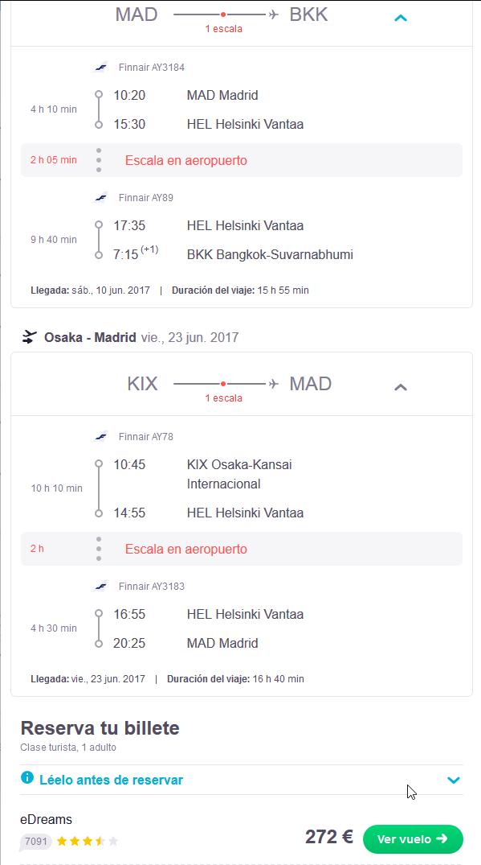 Finnair Tailandia