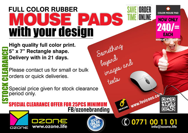Rubber MOUSE PADS with your full color design /logo