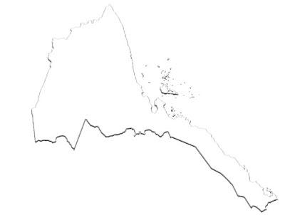 image: Blank white Eritrea Map