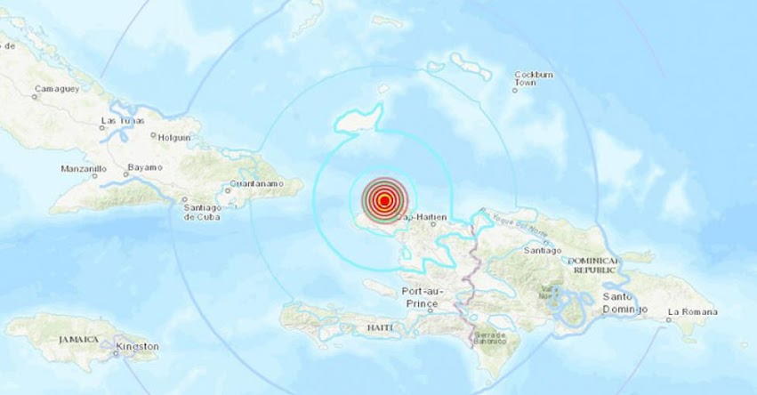 Terremoto en Haití y República Dominicana de Magnitud 5.9 (Hoy Sábado 6 Octubre 2018) Sismo Temblor Epicentro - Puerto de la Paz - Port de Paix - Puerto Príncipe - USGS - www.earthquake.usgs.gov