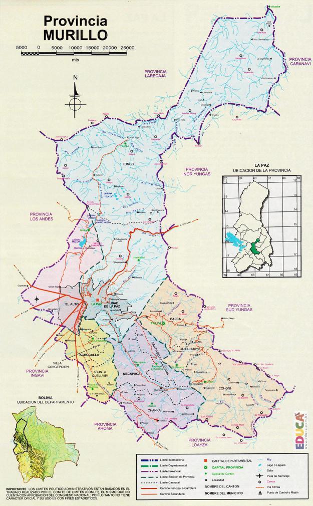 Antecedentes históricos de la Provincia Murillo: La Paz, Bolivia