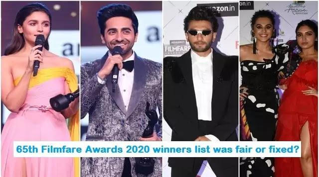 65th Filmfare Awards 2020 winners list was fair or fixed? – Uslis